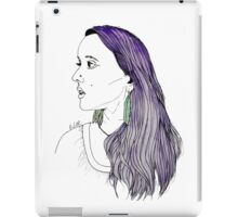 Girl with Feather Earrings iPad Case/Skin