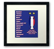 France 2000 Euro Winners Framed Print