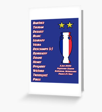 France 2000 Euro Winners Greeting Card