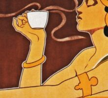 Steaming Cup of Rajah Coffee Woman Sticker