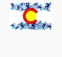Colorado snowboarder flag artistic design Unisex T-Shirt