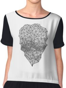 Black Heart Chiffon Top