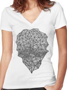Black Heart Women's Fitted V-Neck T-Shirt