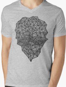 Black Heart Mens V-Neck T-Shirt