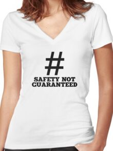 Safety Not Guaranteed Women's Fitted V-Neck T-Shirt