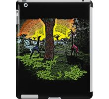 Colorful crazy giraffes scenic print iPad Case/Skin