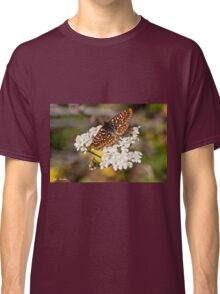 Checkerspot Butterfly on a Yarrow Blossom Classic T-Shirt