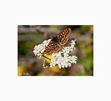 Checkerspot Butterfly on a Yarrow Blossom Unisex T-Shirt