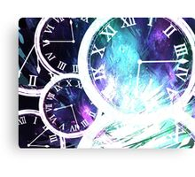 Clock and time Canvas Print