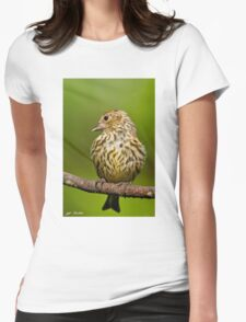 Pine Siskin With Yellow Coloration Womens Fitted T-Shirt