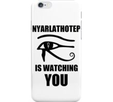 Nyarlathotep is watching you iPhone Case/Skin