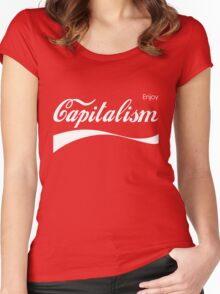 Enjoy Capitalism Women's Fitted Scoop T-Shirt