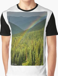 Rainbow and Sunlit Trees Graphic T-Shirt