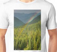 Rainbow and Sunlit Trees Unisex T-Shirt