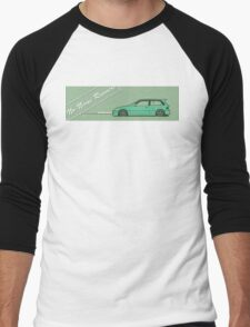 honda civic ef hatchback Men's Baseball ¾ T-Shirt