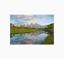 Teton Range Reflected in the Snake River Unisex T-Shirt