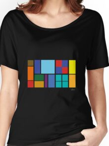 Abstract Colorful Squares & Rectangles 652016 Women's Relaxed Fit T-Shirt