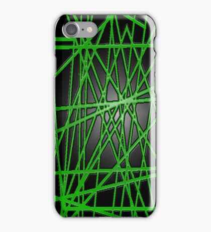 Abstract Phone Case (Green) iPhone Case/Skin