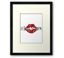 Leg Sweeps in Lipstick Framed Print