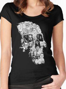 horror skull Women's Fitted Scoop T-Shirt