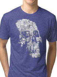 horror skull Tri-blend T-Shirt