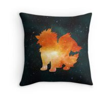 Galaxy Arcanine Throw Pillow