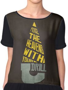 Pierce The Heavens With Your Drill Chiffon Top