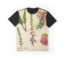 Digitalis purpurea botanical print Graphic T-Shirt