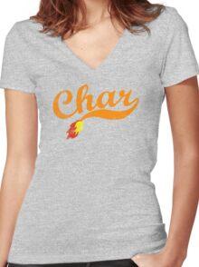 Char Women's Fitted V-Neck T-Shirt