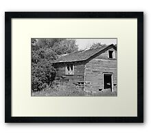 Abandoned Barn Falling to Ruin Framed Print