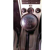 1989 Porsche Carrera Shift Knob Photographic Print