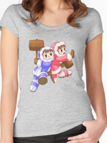 Ice Climbers Popo & Nana Women's Fitted Scoop T-Shirt