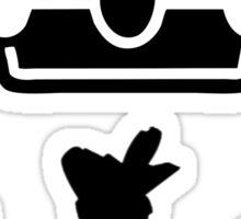 black crown Sticker