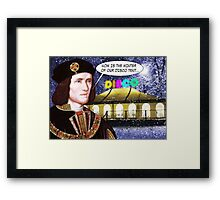 NOW IS THE WINTER OF OUR DISCO TENT Framed Print