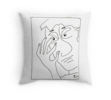 Kirby in Black and White Throw Pillow