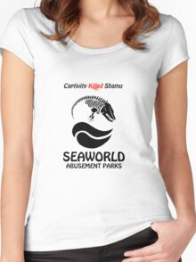 Captivity Killed Shamu Women's Fitted Scoop T-Shirt