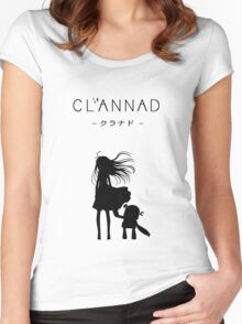 CLANNAD - Girl & Robot Women's Fitted Scoop T-Shirt