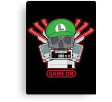 Game On Skull (L) Canvas Print