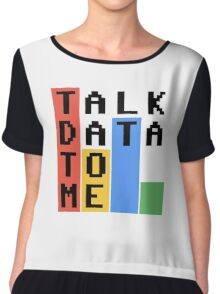 Talk Data To Me Chiffon Top