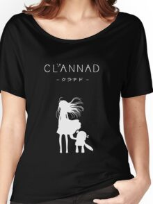 CLANNAD - Girl & Robot (White Edition) Women's Relaxed Fit T-Shirt