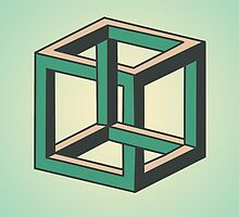 Impossible Optical Illusion Cube by Kristin Frenzel