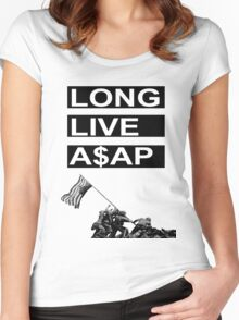 Long Live A$AP - Flag Rising Women's Fitted Scoop T-Shirt