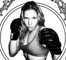 Jennifer Penfield Mixed Martial Artist promotional desgin Sticker
