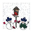 Cowboy Hats on Snowmen by Gravityx9
