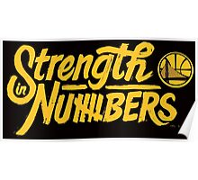 strength in numbers - large logo Poster