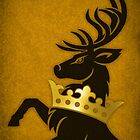 Crowned Stag by Digital Phoenix Design