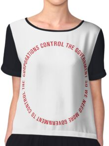 Corporations & Government Loop Chiffon Top