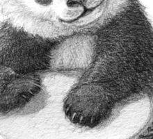 Panda playing percussion G140 Sticker