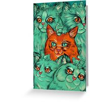 Kitty Madness Greeting Card