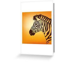 zebra head Greeting Card